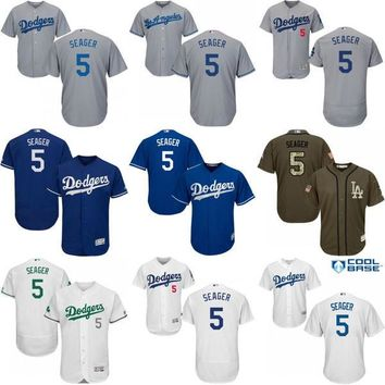Cheap #5 Corey Seager Jersey , Men's MLB Los Angeles Dodgers Corey Seager baseball jer