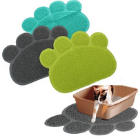 Home Decor Paw Shape Dog Placemat Puppy Pet Cat Dish Bowl Mats Food Water Mat Wipe Kitchen Tools