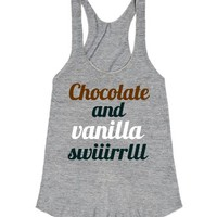 Chocolate and Vanilla Swirl-Female Athletic Grey Tank