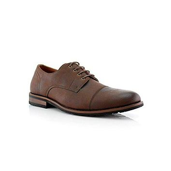 Men's 19553L Cap Toe Casual Dress Lace Up Oxfords Shoes