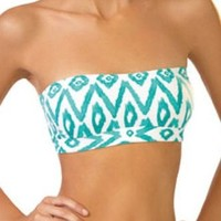 Amazon.com: Ondademar Maldives Bandeau Top in Aqua Ikat Print (XS): Clothing