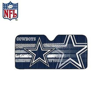 Licensed Official New NFL Dallas Cowboys Windshield Folding Auto Front Window Sun Shade Large Size