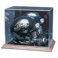 Washington Redskins NFL Full Size Football Helmet Display Case (Wood Base)