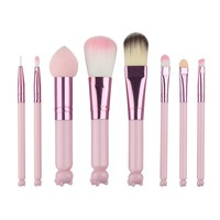 8pcs/set Pink Makeup Brushes Beauty Tools
