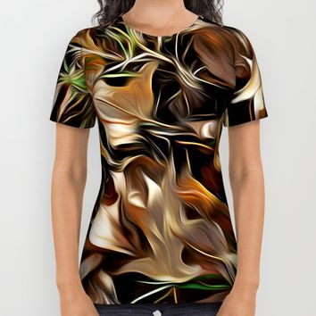 Forest Floor All Over Print Shirt by Stephen Linhart