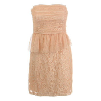 Donna Morgan Womens Tulle Strapless Cocktail Dress