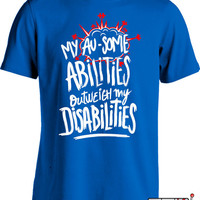 Autism Awareness Shirt Autism Is My Superpower Shirt Autism Awareness Month T Shirt Autism Gifts for Children Advocate Puzzle Piece MD-602