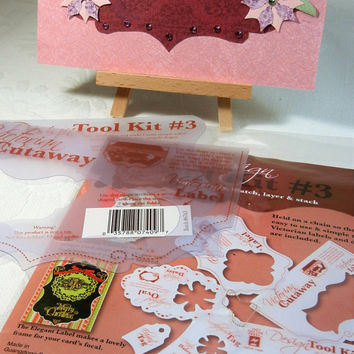 NEW Paper Crafts Design Tool Kit Hot Off the Press Template Kit #3: 11 Shapes Wonderful for Scrapbooking, Cardmaking and other Paper Crafts