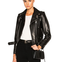 Saint Laurent Classic Motorcycle Jacket in Black | FWRD