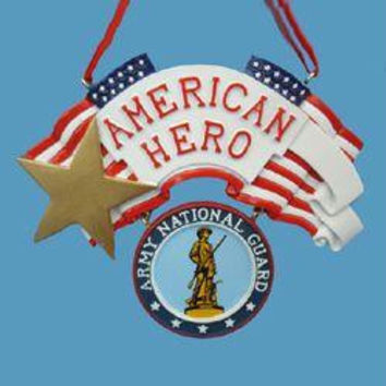 "Christmas Ornament -  "" American Hero ""  Army National Guard"