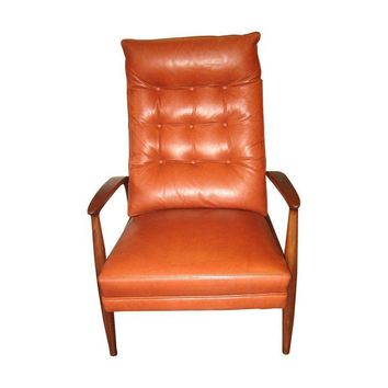 Pre-owned Milo Baughman For Thayer Coggin Leather Recliner