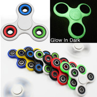15 Colors Tri Spinner Fidget Toy ABS Plastic Handspinner EDC Hand Spinner Metal Balls Stress Relief Focus Toys Kids Gift SP06