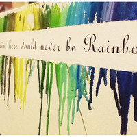 Without the rain, there would never be rainbows