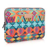 "Native American Tribal  Macbook Laptop Air Pro Canvas Fabric Sleeve Case Bag 10"" 11"" 12"" 13"" 14"" 15"" -N0024"