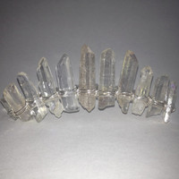 Quartz Crystal Point Crown Tiara