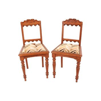 Pre-owned Spanish Side Chairs - A Pair