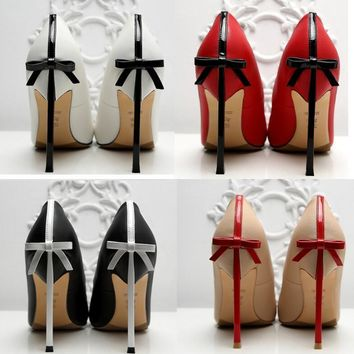 One-nice™ High - heeled shoe stilettos of the bow tie Sexy women's shoes Wedding shoe 10 CM