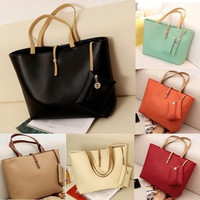 Women PU Leather Tote Shoulder Bags Hobo Handbags Satchel Messenger bag Purse [7669403270]