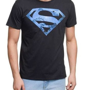Superman Aqua Black Half Sleeve Men T-Shirt