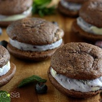 ambrosia: Blueberry-Mint Ice Cream Sandwiches