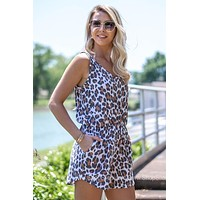 Sleeveless Leopard Printed Romper