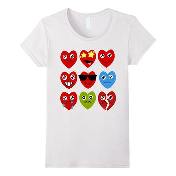 Heart Emojis T-Shirt Gift for Valentine's Day