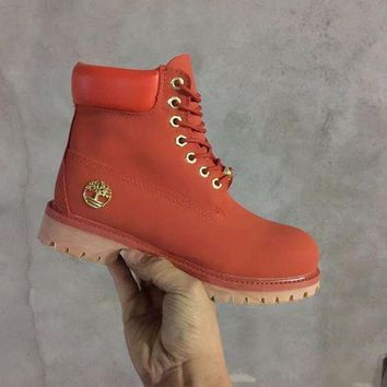 Timberland Rhubarb Boots 10061 Red Waterproof Martin Boots