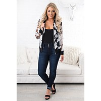 See Right Through You Floral Jacket (Black)