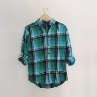Vintage Summer Flannel Button Down Size SMALL