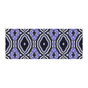 "Dawid Roc ""Inspired By Psychedelic Art 3"" Purple Abstract Bed Runner"