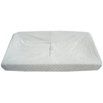 TL Care Heavenly Soft Minky Dot Fitted Contoured Changing Pad Cover, White - Walmart.com