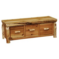 Cedar Enclosed Coffee Table with Three Drawers Standards Finish