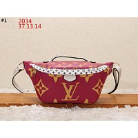 LV 2019 new women's printed letter canvas chest bag shoulder bag #1