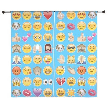 blue emoji Curtains