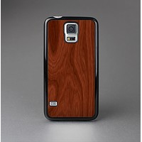 The Red Mahogany Wood Skin-Sert Case for the Samsung Galaxy S5