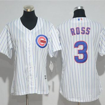 Women's Chicago Cubs #3 David Ross Majestic Cool Base Player Jersey