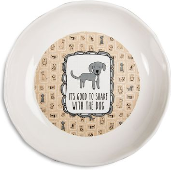 It's good to share with the dog Doggie Shallow Feeding Bowl
