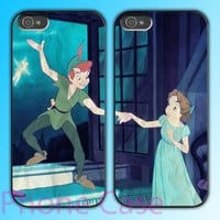 Peter Pan and Wendy - Couple case for iPhone 4/4S and iPhone 5 Hard Plastic Case, Rubber Case, Samsung Galaxy S3 Hard Case