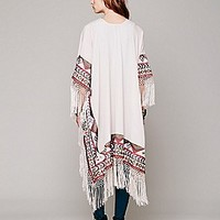 Free People  Kirn Fringe Kimono at Free People Clothing Boutique