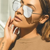 Quay X Desi Silver High Key Sunglasses