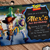 SALE 50% OFF Toy Story Birthday Invitation - Toy Story Birthday Invitation Theme - Birthday Invitation for Boys and Girl