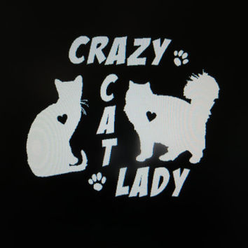 Decal Crazy Cat Lady Vinyl Decal Sticker Custom Car Vehicle Auto Decal Cat Decals