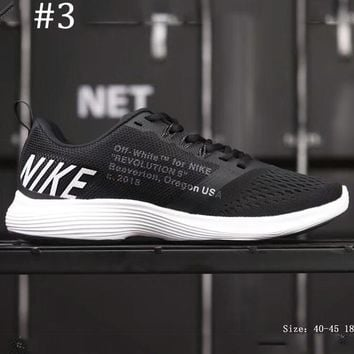 NIKE RUN SWIFT & OFF-WHITE Joint Speed Running Series cushioning running shoes F-AHXF #3