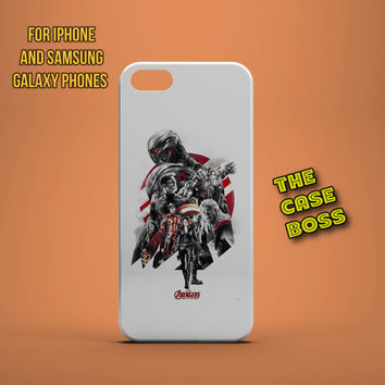 AVENGERS FIGHT Design Custom Phone Case for iPhone 6 6 Plus iPhone 5 5s 5c iphone 4 4s Samsung Galaxy S3 S4 S5 Note3 Note4 Fast!