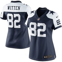Nike Jason Witten Dallas Cowboys Womens Limited Throwback Jersey - Navy Blue/White