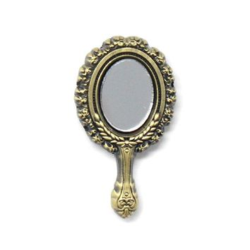 Antique Hand Mirror Pin