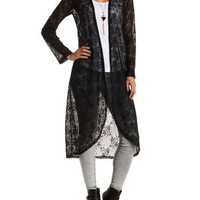 Lace Duster Kimono Cardigan by Charlotte Russe