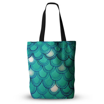 "Theresa Giolzetti ""Mermaid Tail"" Teal Blue Everything Tote Bag"