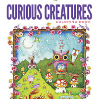 Curious Creatures Adult Coloring Book