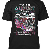 Im August Woman T-Shirt, Colorful B Day